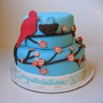 Lemon and Raspberry Bird Cake