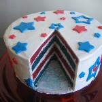 Red, White, and Blue Velvet Cake