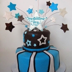 Baby, You're A Rock Star Shower Cake