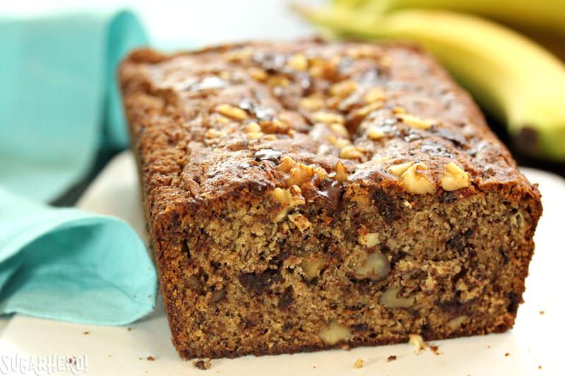 Coconut Oil Banana Bread | From SugarHero.com