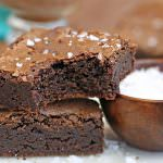 Salted Fudge Brownies | From SugarHero.com