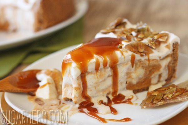 Pumpkin Ice Cream Pie - SugarHero
