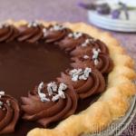 Chocolate-Lavender Pie