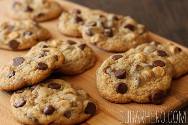 Peanut Butter Banana Chocolate Chip Cookies - SugarHero