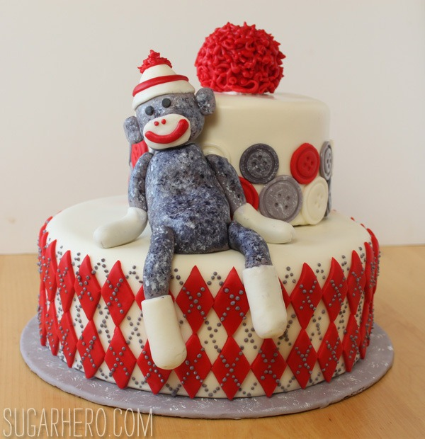 Sock Monkey Cake SugarHero