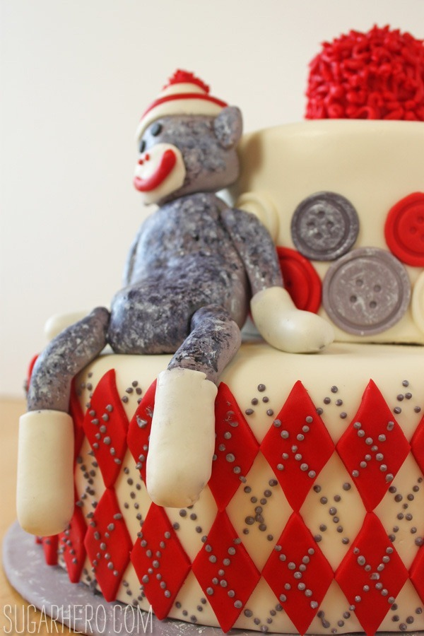Astounding Sock Monkey Cake Sugarhero Birthday Cards Printable Giouspongecafe Filternl