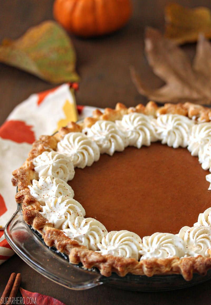 Dulce de Leche Pumpkin Pie | From SugarHero.com
