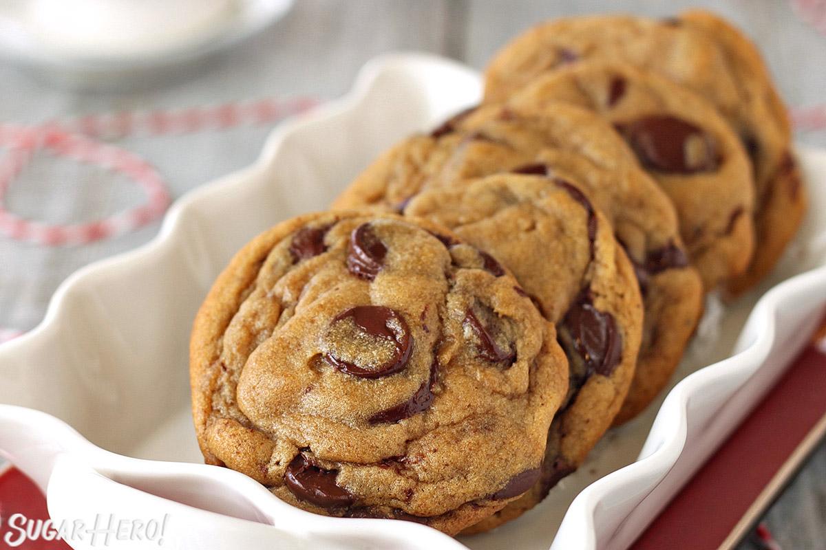 Gingerbread Chocolate Chip Cookies | SugarHero.com