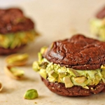 Chocolate-Pistachio Sandwich Cookies