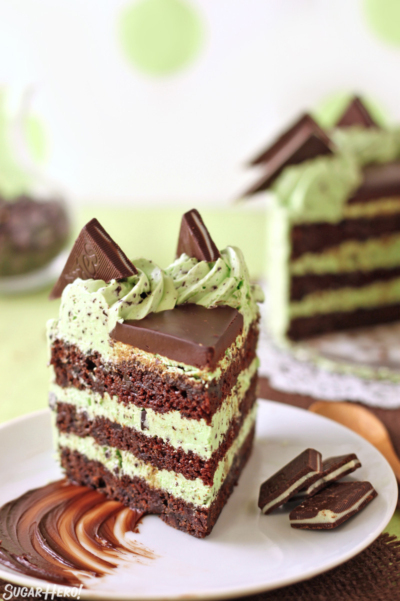 Mint Chocolate Chip Layer Cake - SugarHero