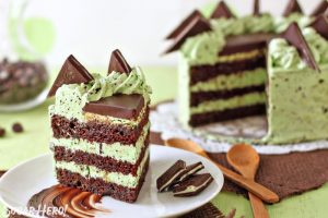 Mint Chocolate Chip Layer Cake | From SugarHero.com