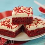 Red Velvet Bars With Homemade Sprinkles