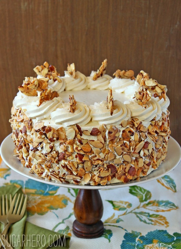 Burnt Almond Cake | SugarHero.com