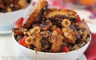 Nutella Croissant Casserole | From SugarHero.com
