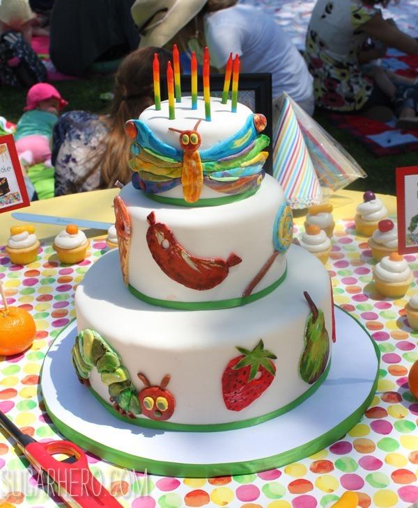 Very Hungry Caterpillar Cake | SugarHero.com