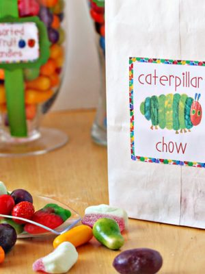 Very Hungry Caterpillar Candy Buffet | From SugarHero.com