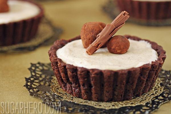 Cinnamon Mousse Tarts | SugarHero.com