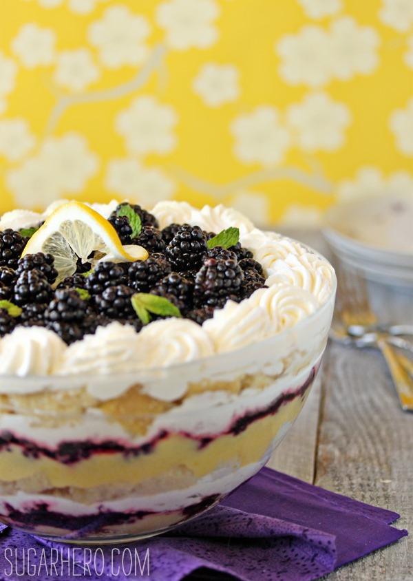 Lemon Blackberry Trifle | SugarHero.com