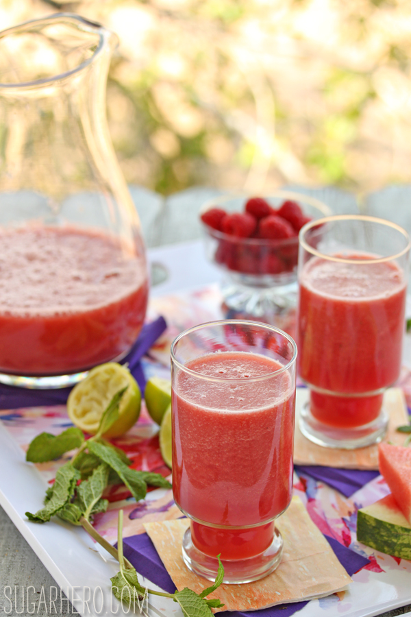 Watermelon-Raspberry Juice |SugarHero.com