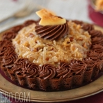 German Chocolate Brownie Tarts