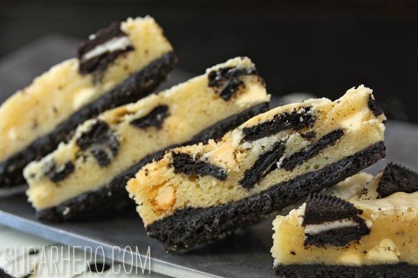 Cookies and Cream Oreo Bars | SugarHero.com