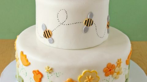 Surprising Bumblebee Cake Lemon Layer Cake With Lemon Buttercream Personalised Birthday Cards Paralily Jamesorg