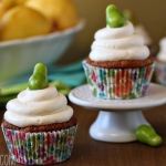 Pear Cupcakes with Honey Buttercream