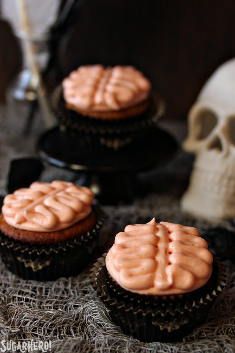 Brain Cupcakes | SugarHero.com