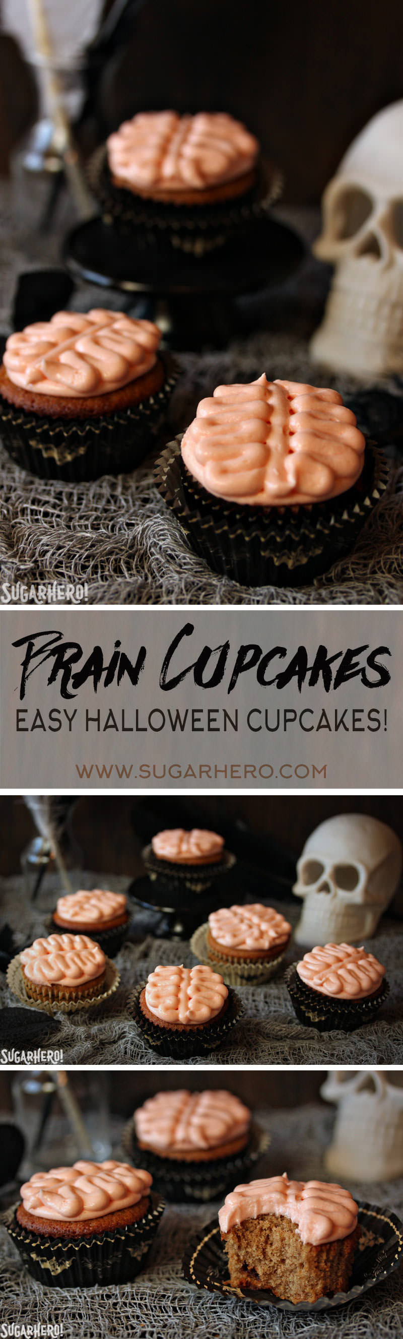 Brain Cupcakes | From SugarHero.com