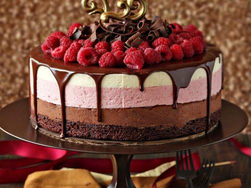 Brilliant Chocolate Raspberry Mousse Cake Sugarhero Personalised Birthday Cards Arneslily Jamesorg