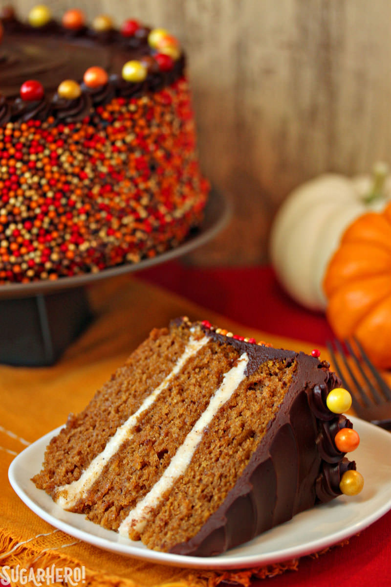 Pumpkin Layer Cake | SugarHero.com