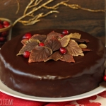 Cranberry Chocolate Truffle Cake