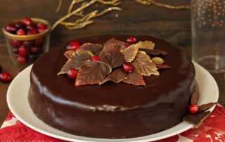 Cranberry Chocolate Truffle Cake | SugarHero.com