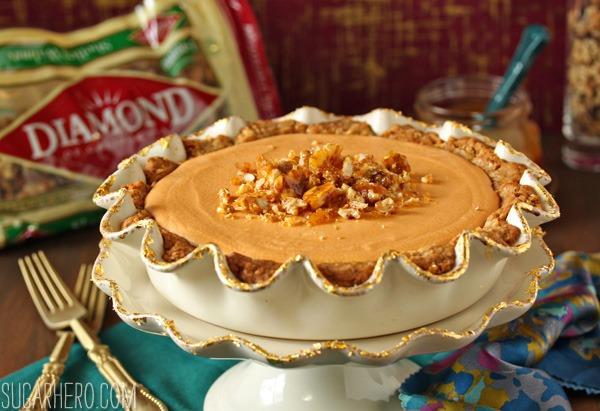 Oatmeal Walnut Butterscotch Pie   SugarHero.com