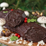 Peanut Butter Cup Yule Log