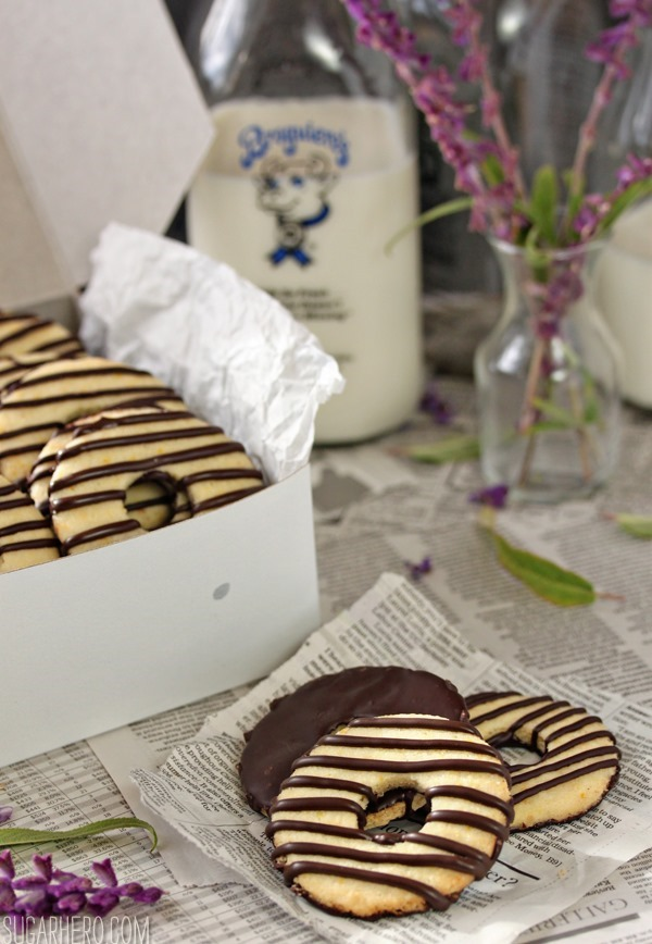 Fudge-Striped Shortbread Cookies | SugarHero.com