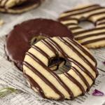 Fudge-Striped Shortbread Cookies
