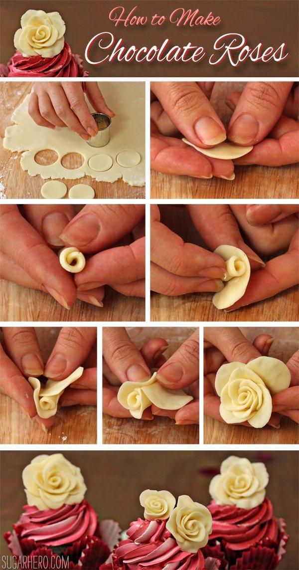 How to Make Chocolate Roses   SugarHero.com
