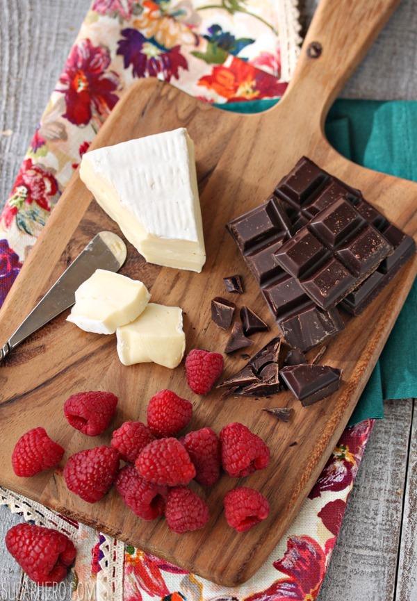 Raspberry, Brie, and Chocolate Puff Pastries | SugarHero.com