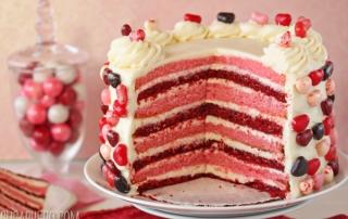 Pink and Red Velvet Cake