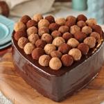 Truffle-Topped Heart Cake