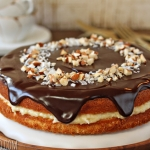 Almond Joy Boston Cream Pie