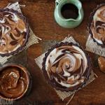 Dulce de Leche Swirled Tarts