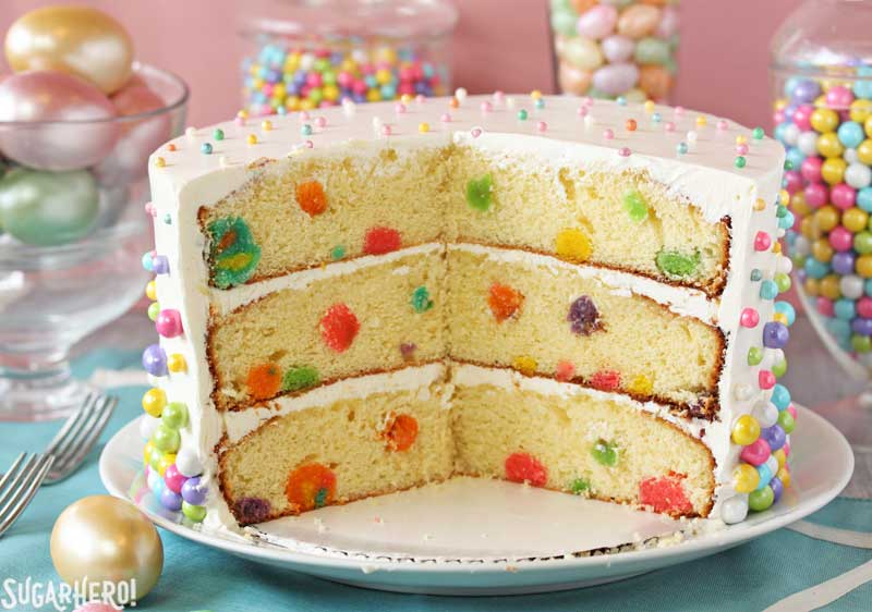 Easter Polka Dot Cake | From SugarHero.com