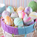 Marbled Easter Egg Truffles | From SugarHero.com