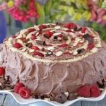Raspberry Almond Spiral Cake