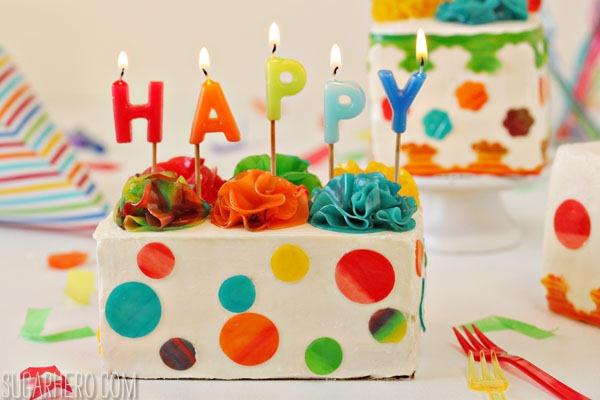 Birthday Present Mini Cakes | From SugarHero.com
