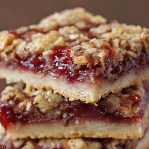 Strawberry Basil Crumb Bars | SugarHero.com