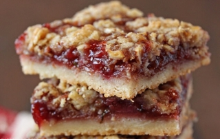 Strawberry Basil Crumb Bars | SugarHero.com