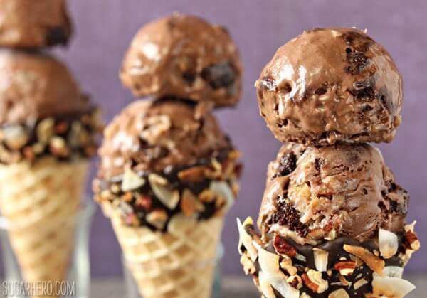German Chocolate Brownie Ice Cream   From SugarHero.com